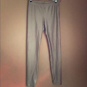 American apparel shiny leggings